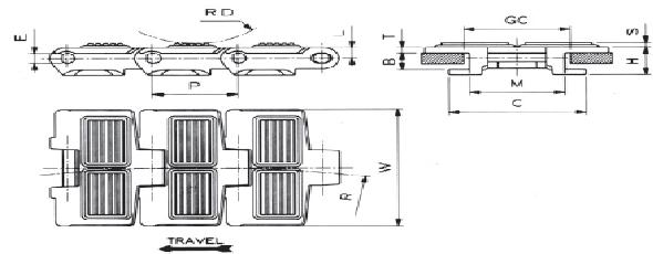 REGINA LW 880T K 3 ¼ FLITETOP SIDEFLEXING CHAIN Conveyor Parts